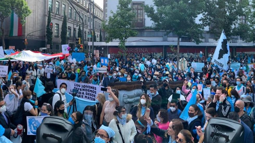 Organizaciones provida protestan en la Corte por despenalización del aborto - Corte SCJN protesta aborto