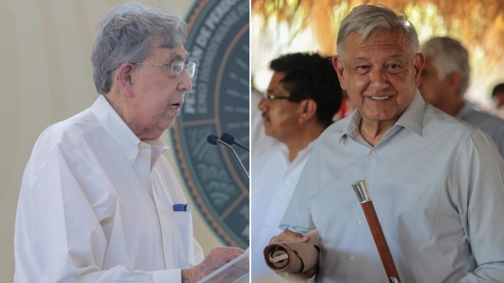 Cuauhtémoc Cárdenas pide a AMLO cancelar el Acueducto Independencia - Cuauhtémoc Cárdenas López Obrador Vicam Sonora 2