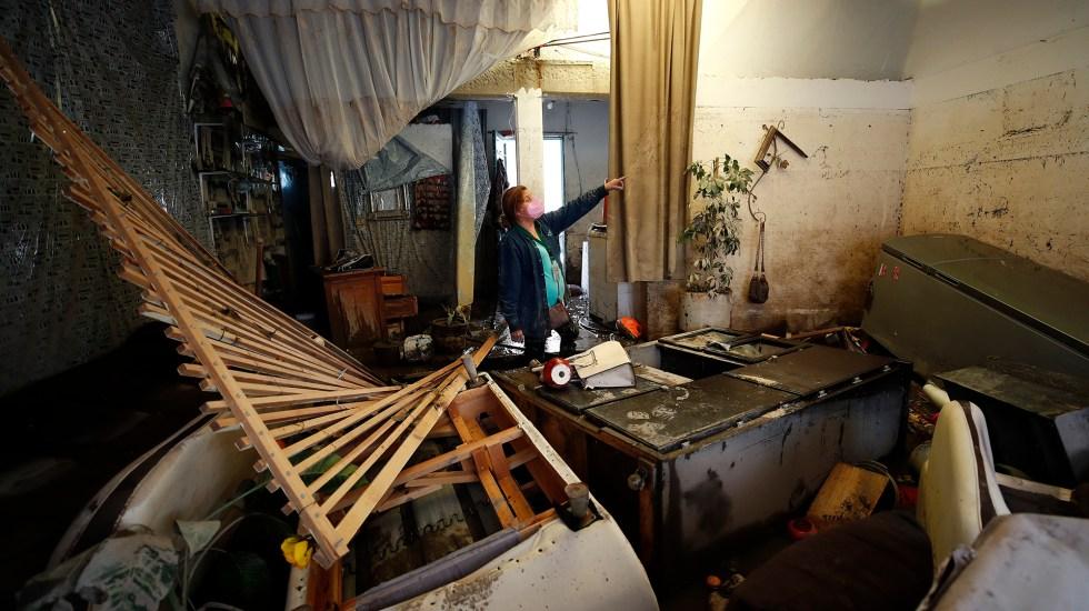 Inician los trabajos de limpieza en Tula; hay quienes perdieron todo - Daños en casa de Tula por inundaciones tras desbordamiento de río