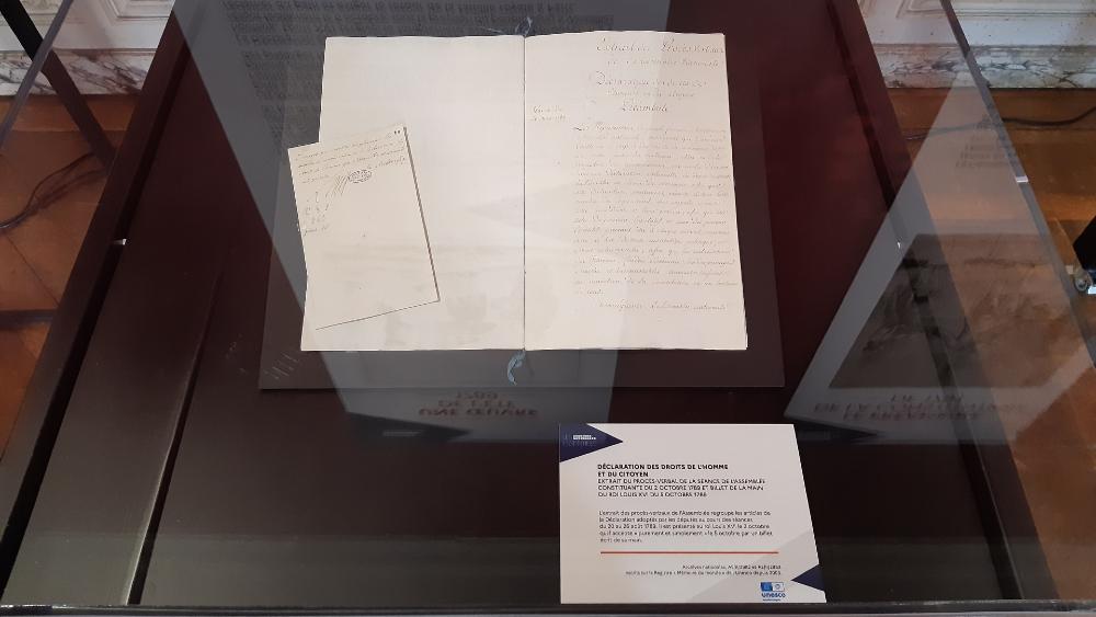 París exhibe Declaración de los Derechos del Hombre y del Ciudadano - Declaración derechos París Francia 1789