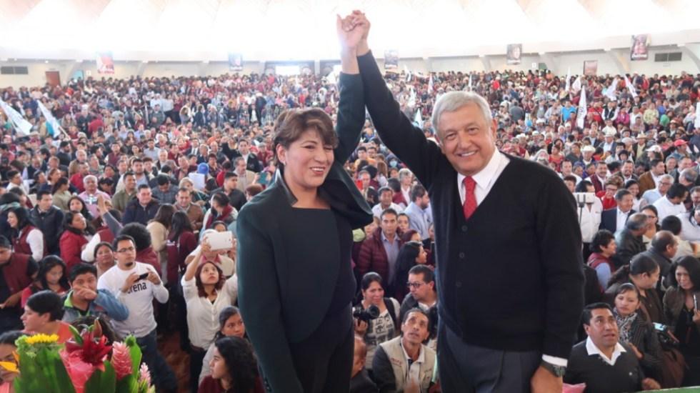 AMLO 'destapa' a Delfina Gómez como candidata, nuevamente, a gobierno del Edomex - Delfina Gómez AMLO López Obrador 2017