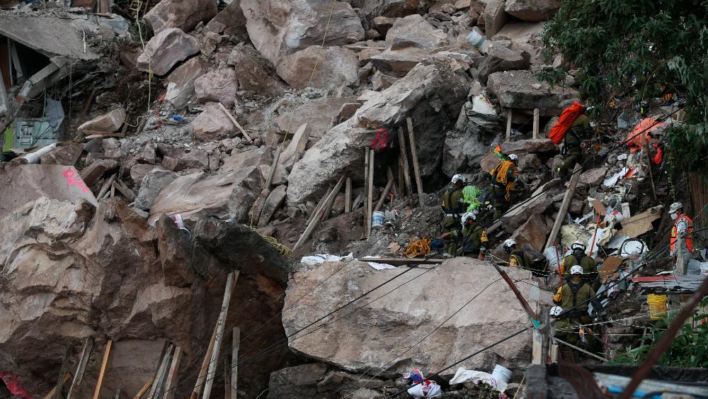 Siguen labores de estabilización en zona del derrumbe en el Chiquihuite - derrumbe Cerro Chiquihuite