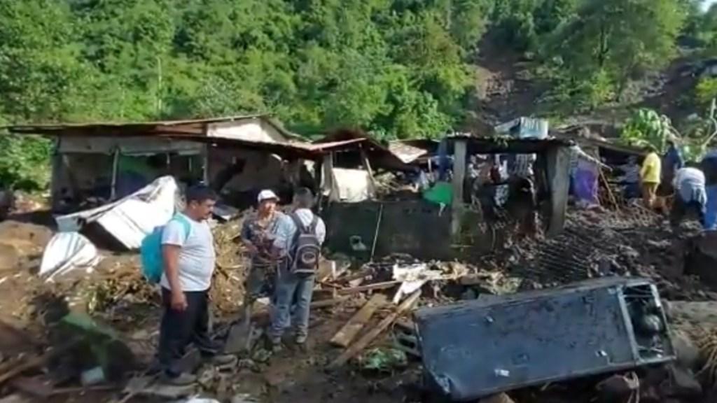 Derrumbe deslave Chiapas Unión Juárez