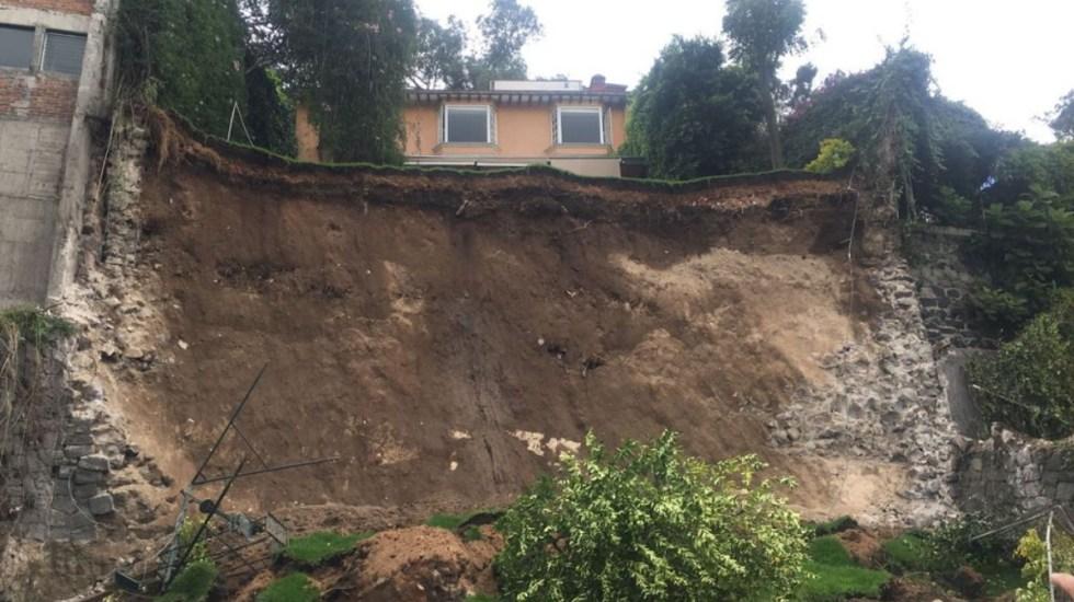 Realizarán estudio de suelo tras deslave en Lomas de Santa Fe - Deslave Santa Fe Álvaro Obregón