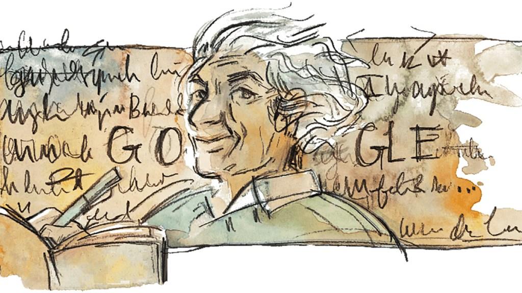 Google homenajea al poeta Nicanor Parra con doodle en su natalicio - Doodle de Nicanor Parra