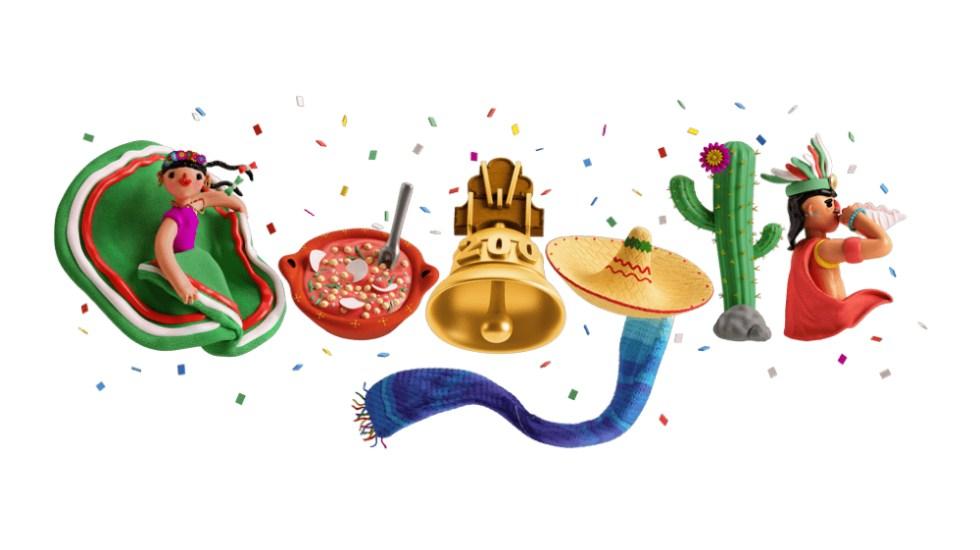 Google celebra la Independencia de México en su Doodle - doodle Google México Independencia 2021