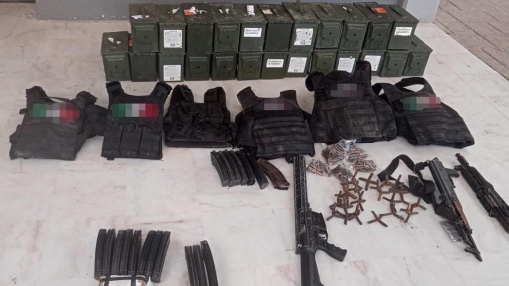 Drogas armas autos decomiso operativos Tamaulipas