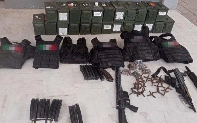 Decomisan arsenal, vehículos y droga en Tamaulipas; hay cuatro detenidos - Drogas armas autos decomiso operativos Tamaulipas
