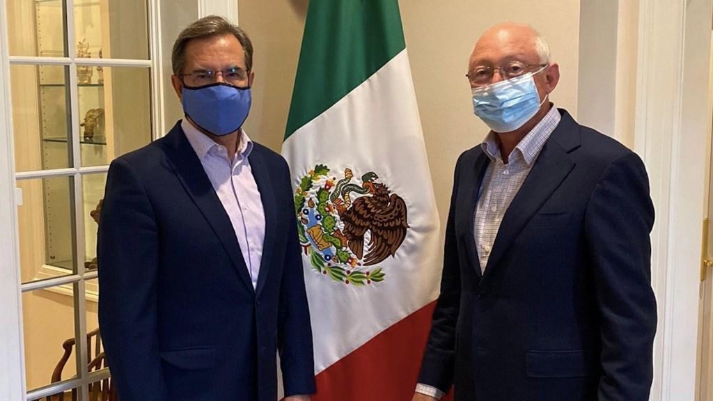Embajadores de México y EE.UU. se reúnen como parte del Diálogo de Alto Nivel. Foto de Twitter Esteban Moctezuma Barragán