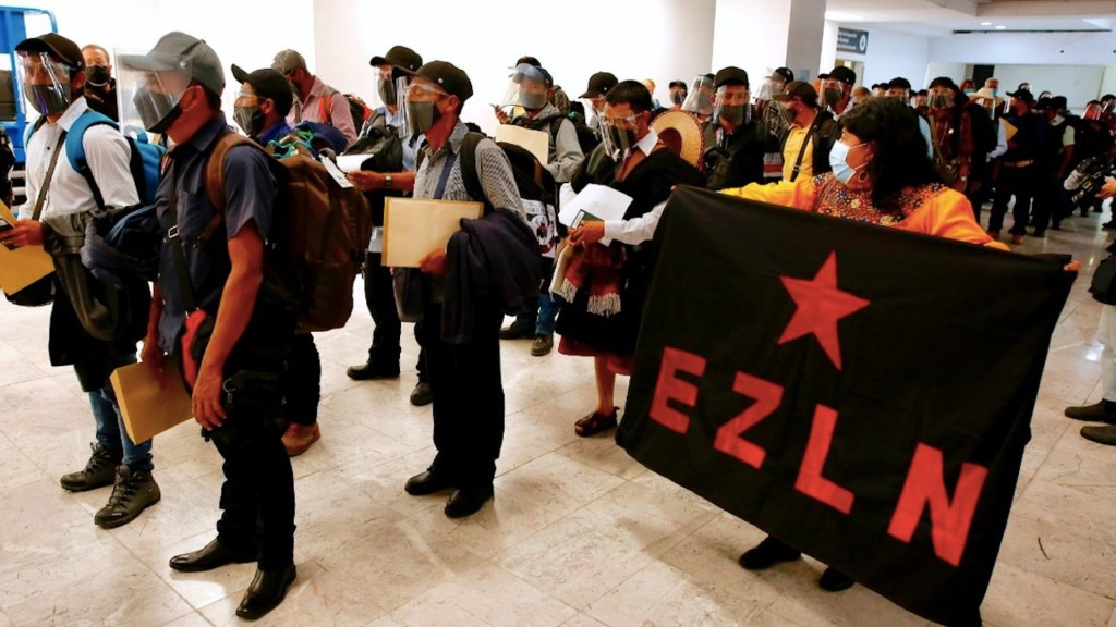 Nueva delegación de zapatistas parte a Europa para continuar su lucha - Foto de EFE