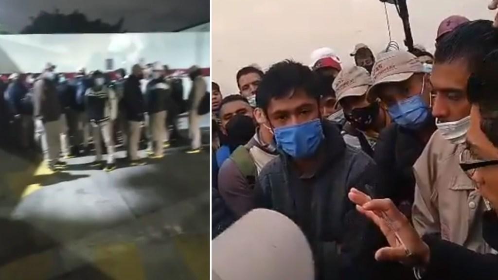 """Gas Bienestar tacha de """"boicot"""" paro en Terminal de Abastecimiento en Iztacalco - Gas Bienestar protesta trabajadores"""