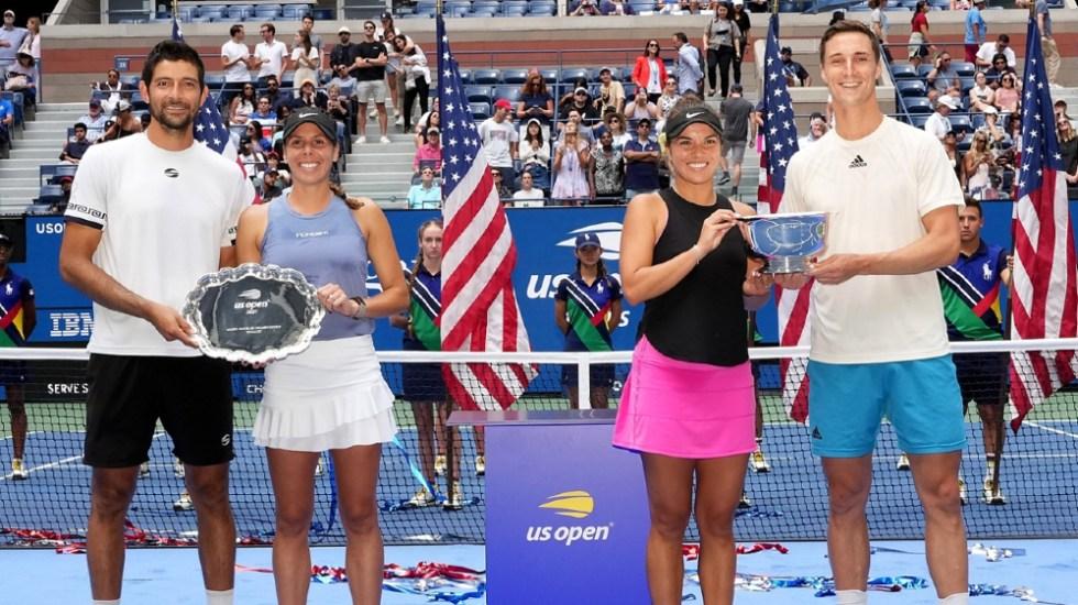 La mexicana Giuliana Olmos es subcampeona del dobles mixtos en el US Open - Giuliana Olmos US Open