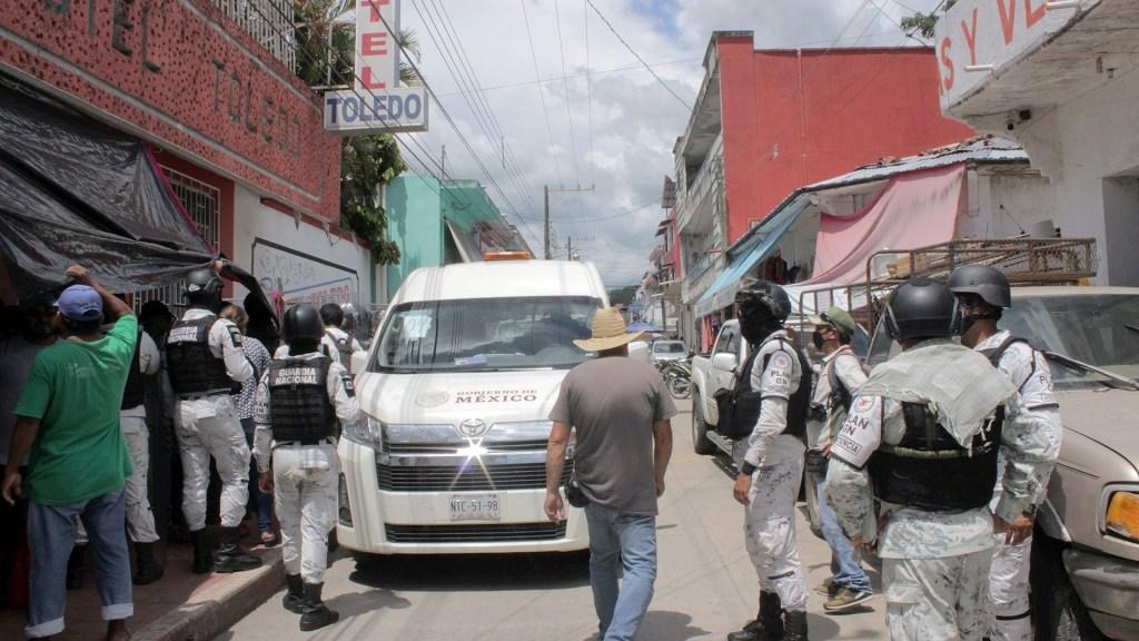 """Desconoce iglesia propuesta del INM de """"campamento humanitario"""" para migrantes - campamento humanitario Guardia Nacional INM Chiapas México operativo migrantes"""