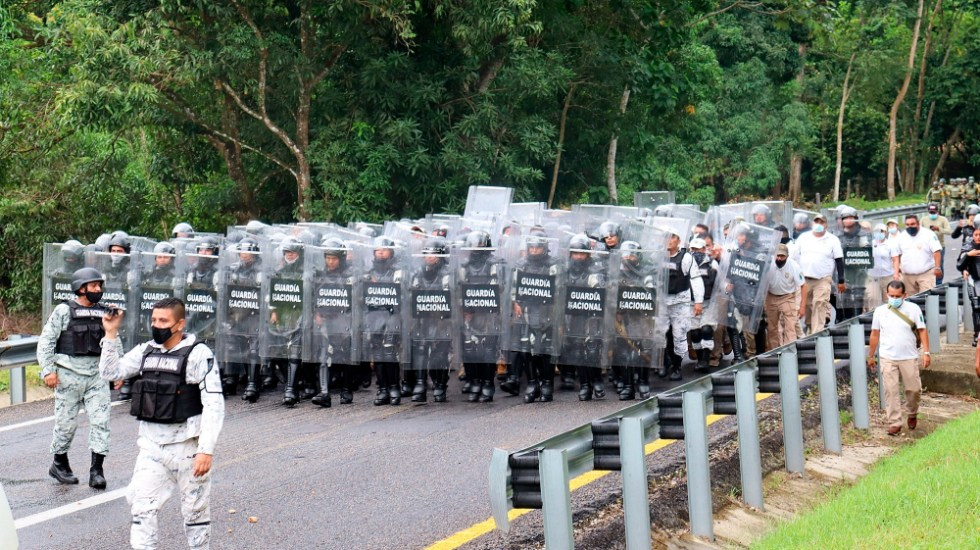 Tenemos que cuidar a migrantes: AMLO sobre labores de contención en Chiapas - Guardia Nacional migrantes Chiapas