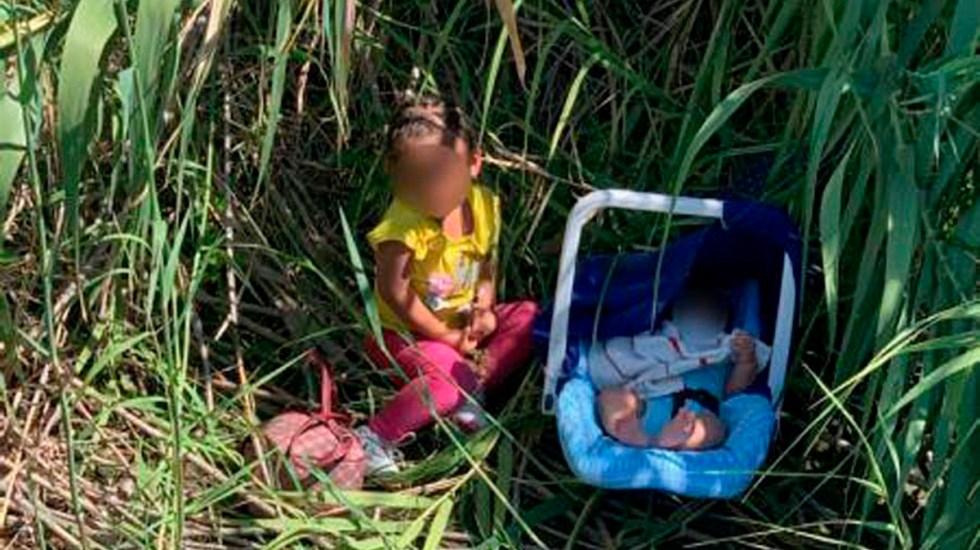 Abandonan a orillas del río Grande a niña y bebé migrantes - Hermanitos hondureños abandonados a orillas del río Grande