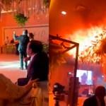 #Video Boda en Torreón acaba en incendio de salón de fiestas