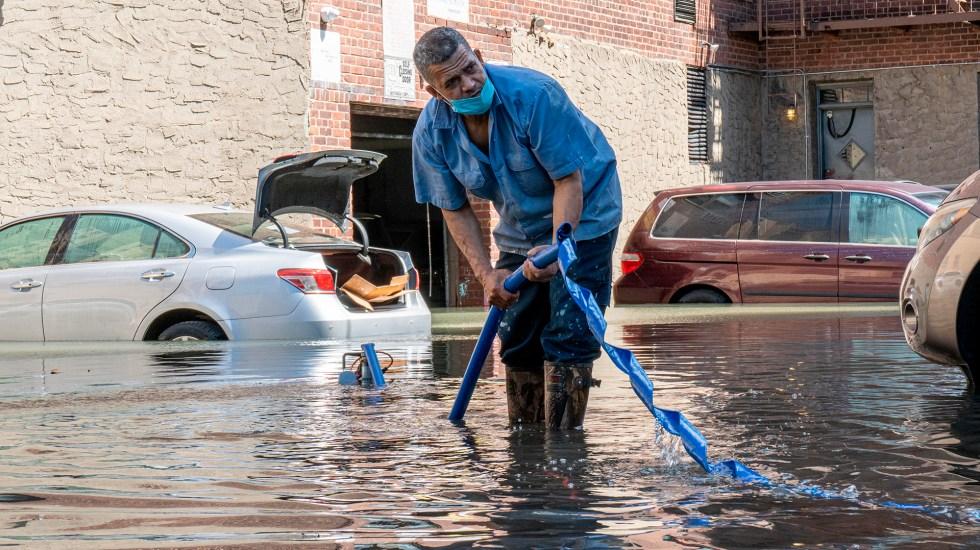 Biden aprueba declaración de desastre para Nueva York y Nueva Jersey por Ida - Inundación en Nueva York tras el paso de Ida