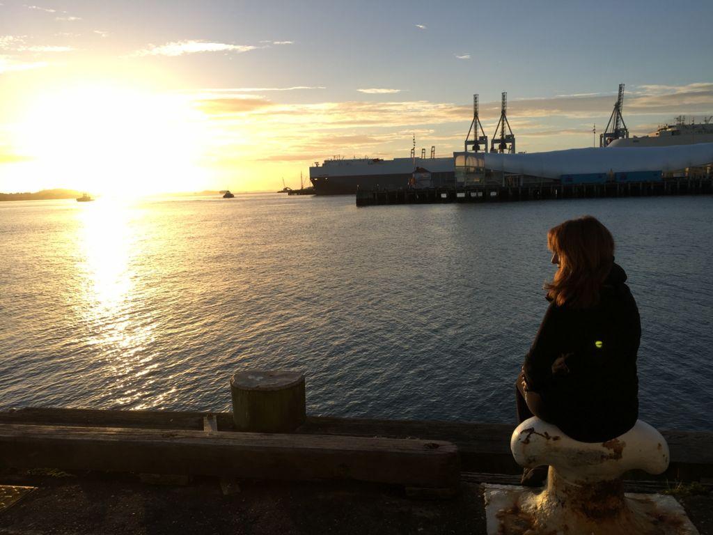 Ivonne Frid en Nueva Zelanda.