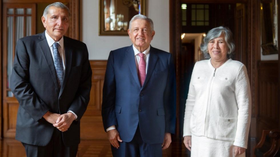 López Obrador da la bienvenida a María Ríos, nueva consejera jurídica; trabajará en coordinación con Segob - María Estela Ríos AMLO consejera