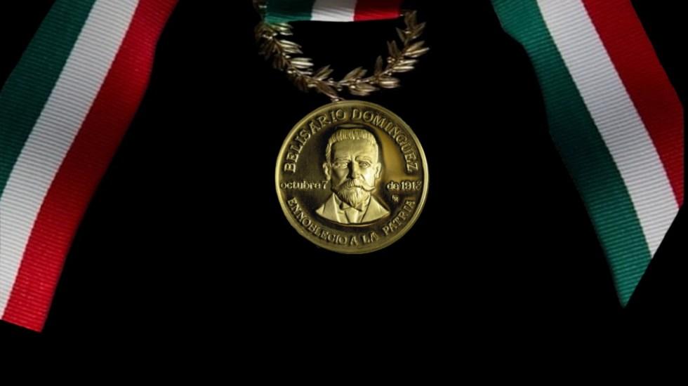 López Obrador acudirá al Senado para la entrega de la medalla Belisario Domínguez - Medalla Belisario Domínguez
