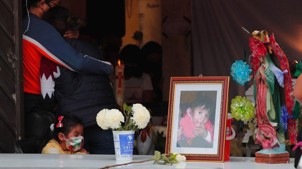 Sepultan en panteón de Tlalnepantla a Mía, víctima de derrumbe en Cerro del Chiquihuite - Mía, niña de tres años que murió en derrumbe del Cerro del Chiquihuite