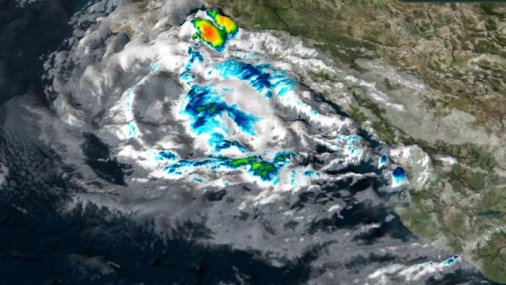 Olaf se degrada a tormenta tropical; establecen zona de prevención en BCS - Olaf tormenta tropical
