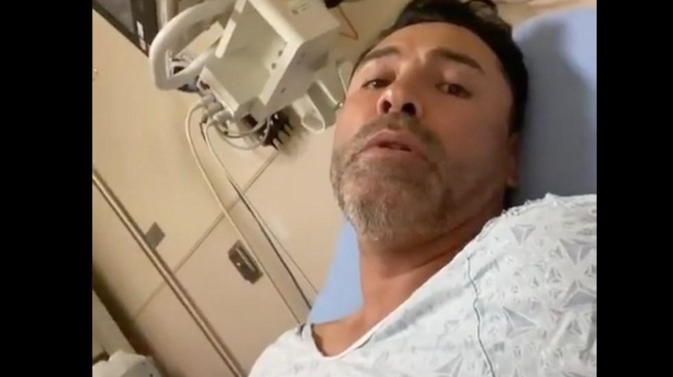 Hospitalizan a Oscar de la Hoya tras contagio de COVID-19 - Hospitalizan a Oscar de la Hoya por COVID-19. Foto tomada de video