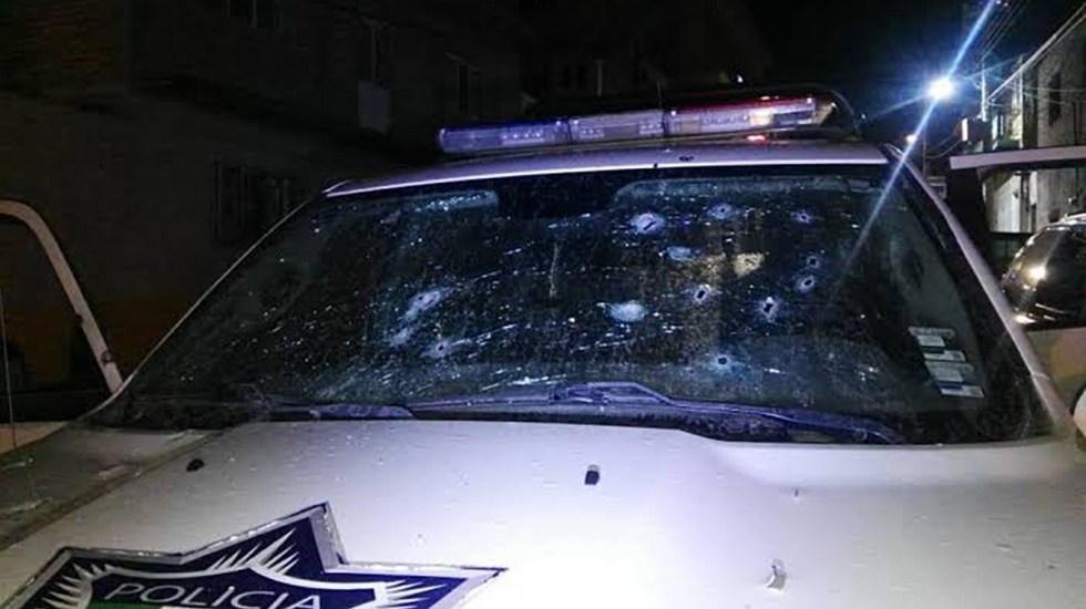 Mueren cuatro policías en Jalisco durante enfrentamiento con grupo criminal - Patrulla de policías asesinados en Encarnación de Díaz, Jalisco