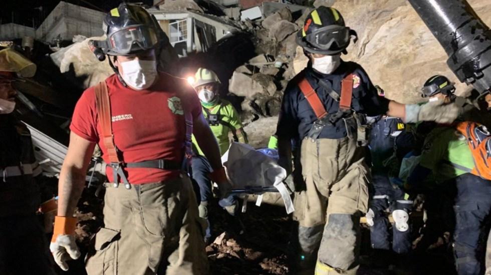 Recuperan cuerpos de Paola y Dilan en derrumbe del Cerro del Chiquihuite - PC Tlalnepantla Cerro del Chiquihuite