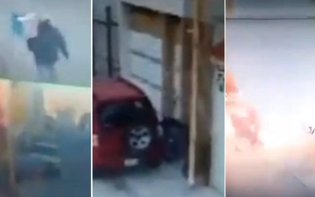 Detona caja con explosivo frente a vivienda en Puebla - Puebla explosión caja vivienda