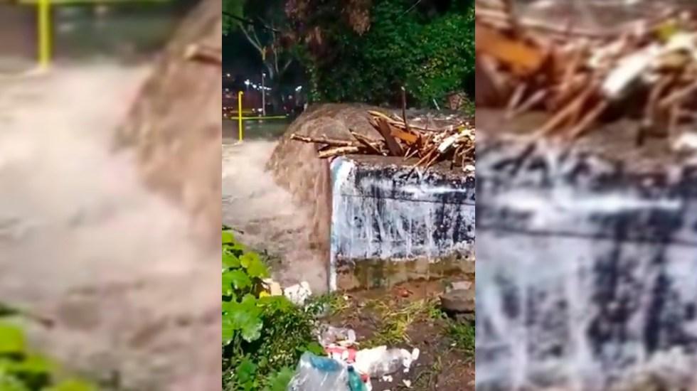 #Video Lluvias desbordan río San Buenaventura en Xochimilco - Río San Buenaventura en Xochimilco