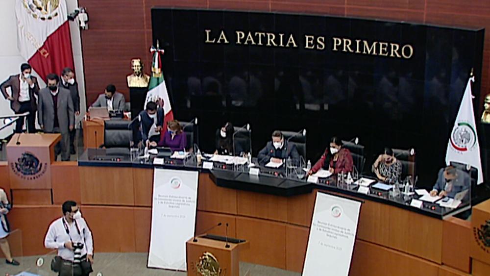 Senado comisiones unidas ley juicio político