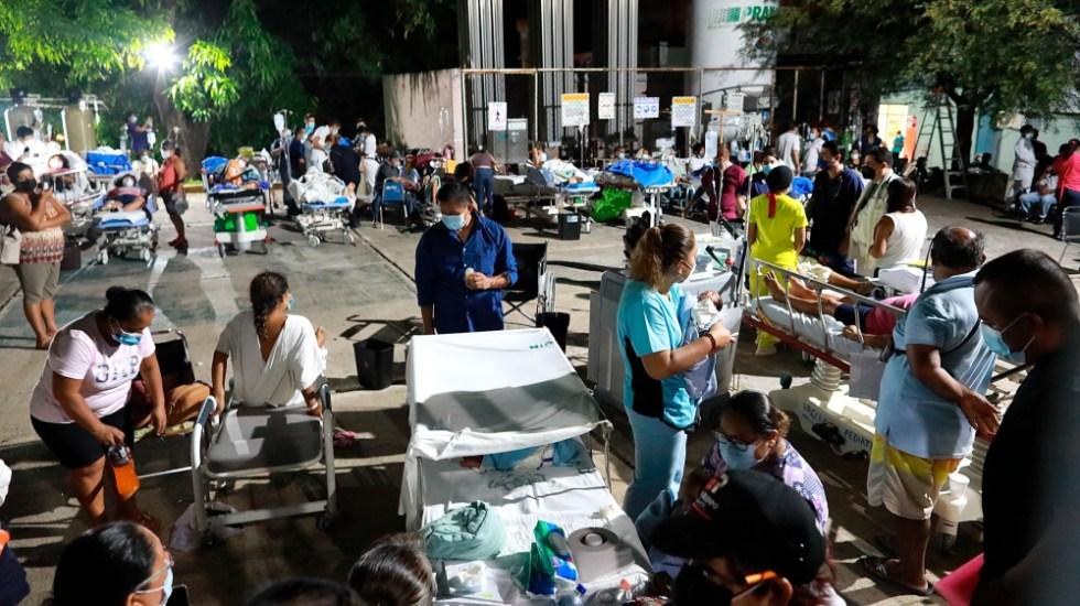 Tenemos que enfrentar adversidades y salir adelante: AMLO tras recuento de inundaciones y sismo - sismo Acapulco Guerrero 7sep21 adversidades