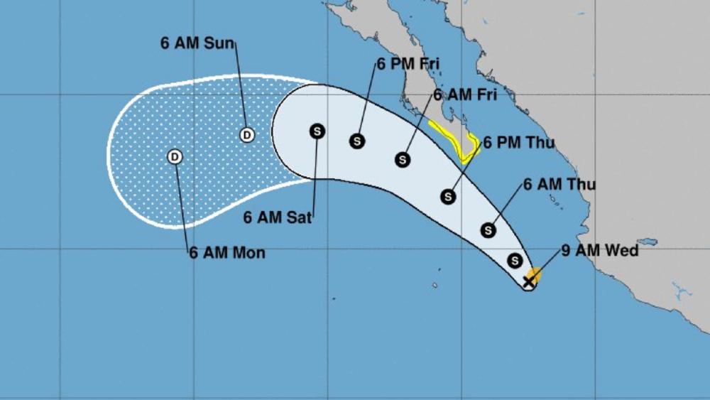 Nace tormenta tropical Olaf frente a costas de Jalisco - tormenta tropical Olaf Jalisco