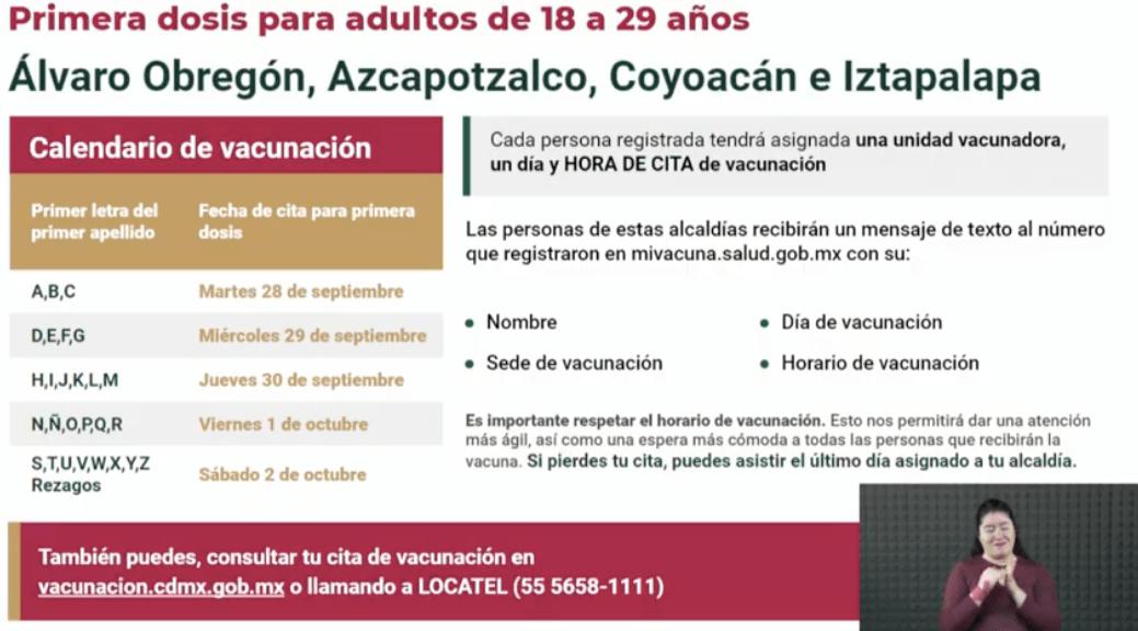 Covid-19: La vacuna se aplicará en estos lugares de la CDMX la próxima semana 5