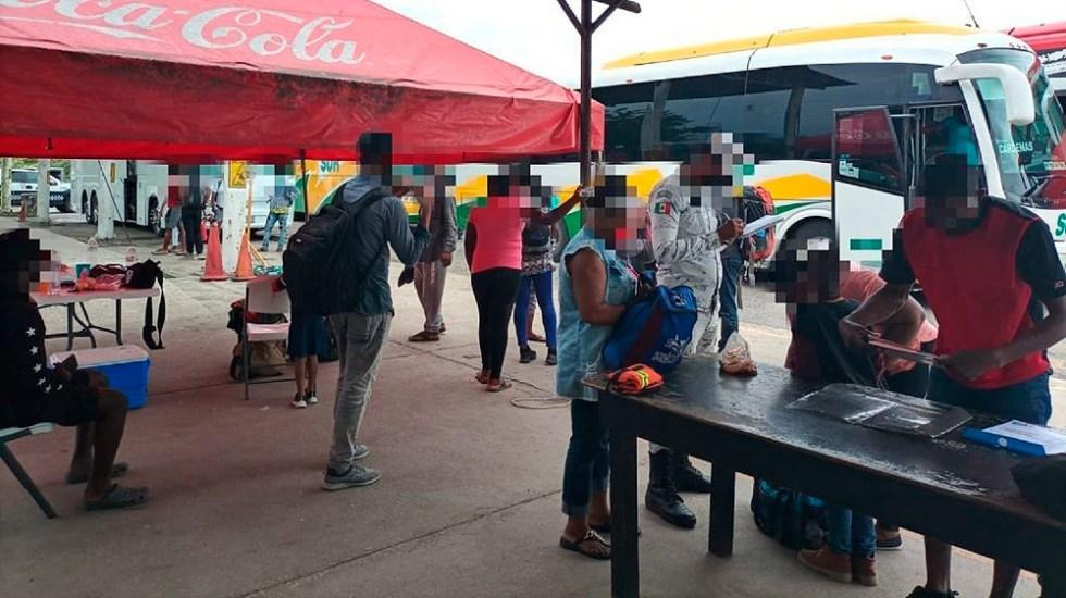 Autoridades interceptan a 71 migrantes en Veracruz - Veracruz migrantes SSP