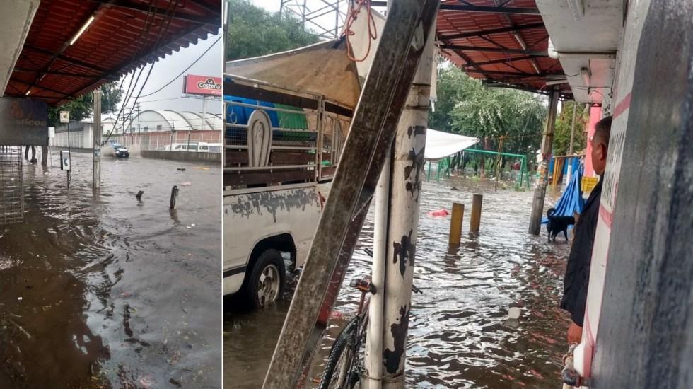 Fuertes lluvias provocan inundaciones en Ecatepec, Estado de México - Vía Morelos Ecatepec lluvia