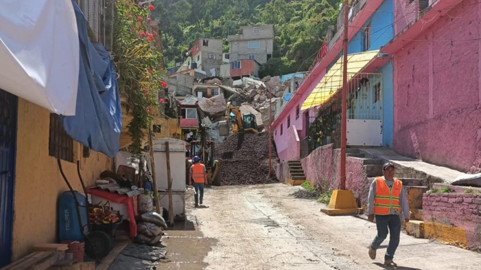 Suman 178 viviendas a desalojar por derrumbe en Cerro del Chiquihuite - Zona de derrumbe del Cerro del Chiquihuite