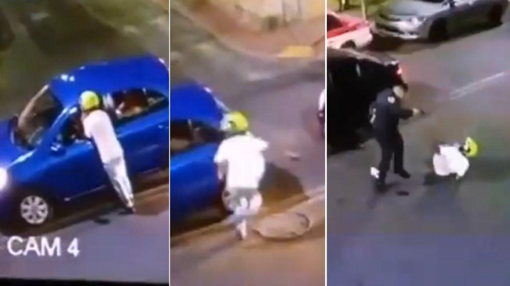 Policía frustra asalto en Iztacalco; agresor resulta lesionado - Asalto Iztacalco