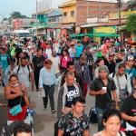 Caravana migrante avanza a paso lento por el sur de México - Caravana Migrante México Chiapas 3
