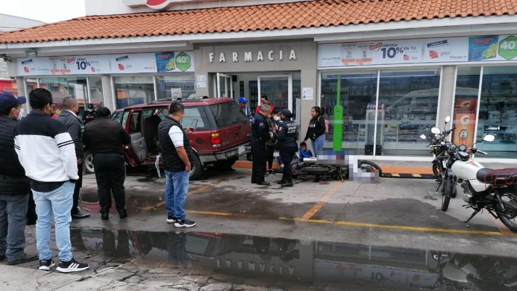 Motociclista murió sobre Av. Central de Ecatepec tras choque con camioneta - Choque sobre la Avenida Central de Ecatepec