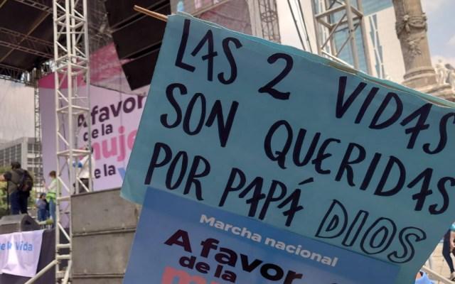 Marchan en Ciudad de México en contra del aborto - Ciudad de México Marcha provida vida