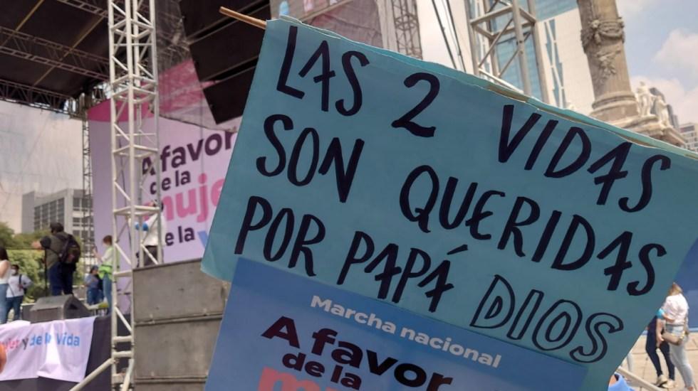 Marchan en la Ciudad de México por la protección de la vida desde su concepción - Ciudad de México Marcha provida vida