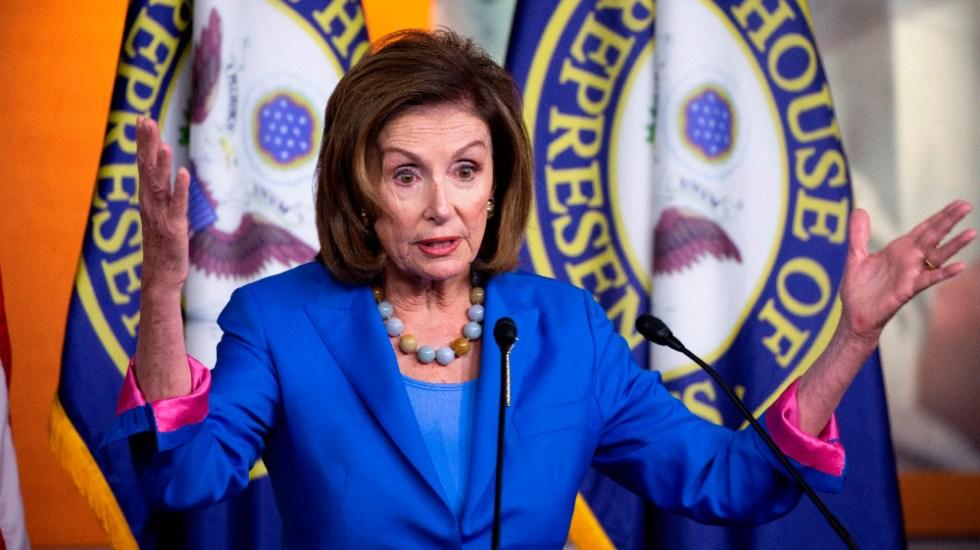 Demócratas votarán a final de mes la ley de infraestructuras de Biden - demócratas Nancy Pelosi