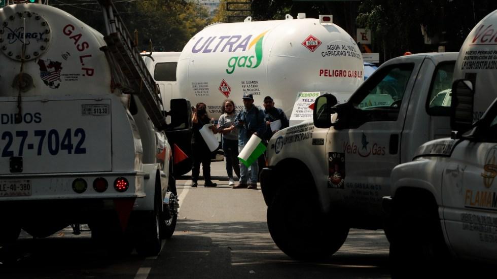 Gaseros del Valle de México van a paro tras no ser atendidas demandas - gaseros protestas CDMX gas paro
