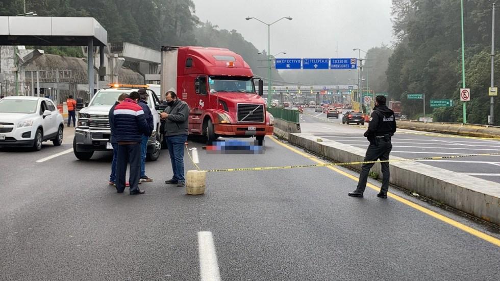 Tráiler atropella y mata a hombre sobre autopista México-Toluca - Hombre que murió atropellado en la autopista México-Toluca