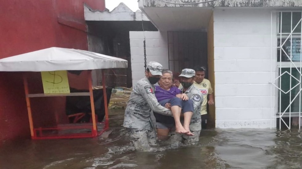 Al menos 10 municipios de Veracruz afectados por lluvias - Al menos 10 municipios de Veracruz afectados por lluvias. Foto de Guardia Nacional