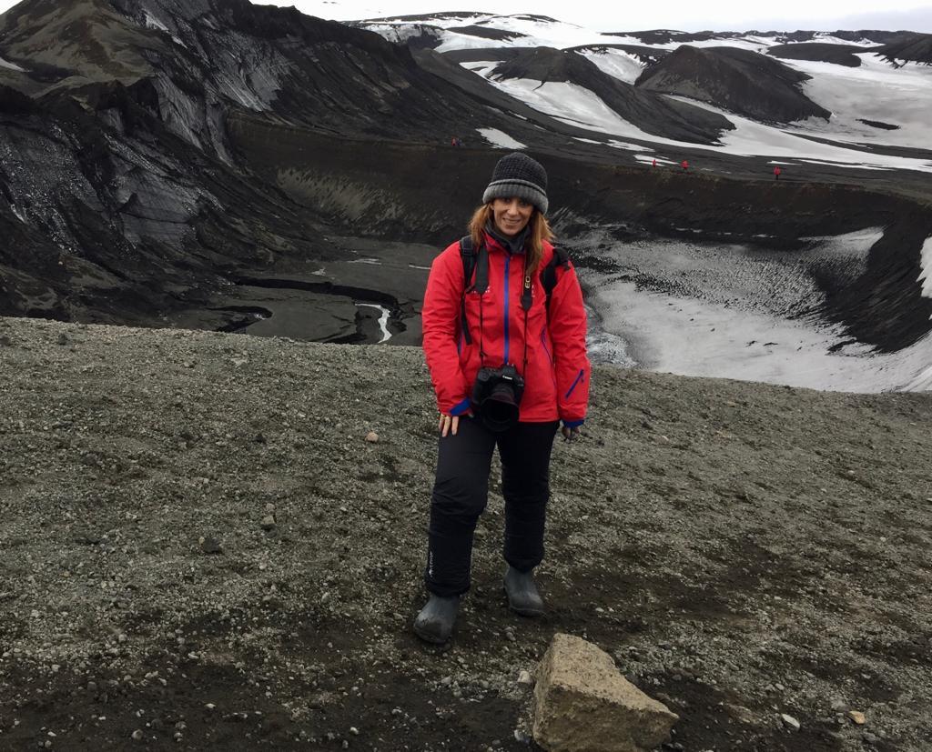 Ivonne Frid en la antártida
