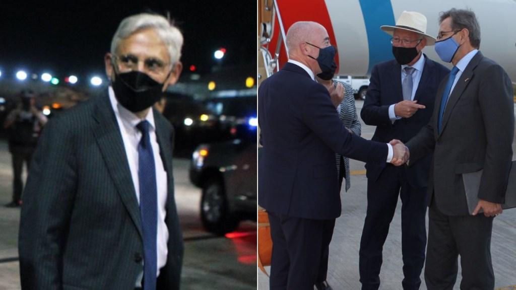 Fiscal y secretario de Seguridad Nacional de EE.UU. llegan a México - Merrick Garland y Alejandro Mayorkas