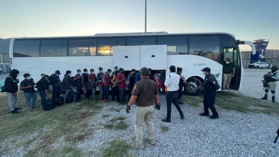 Complejo de Seguridad de Ciudad Victoria es declarado estación migratoria temporal - México migrantes autobús detención